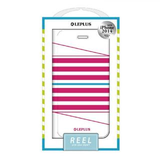 REEL デザインPUレザー手帳型ケース ピンク iPhone 6ケース