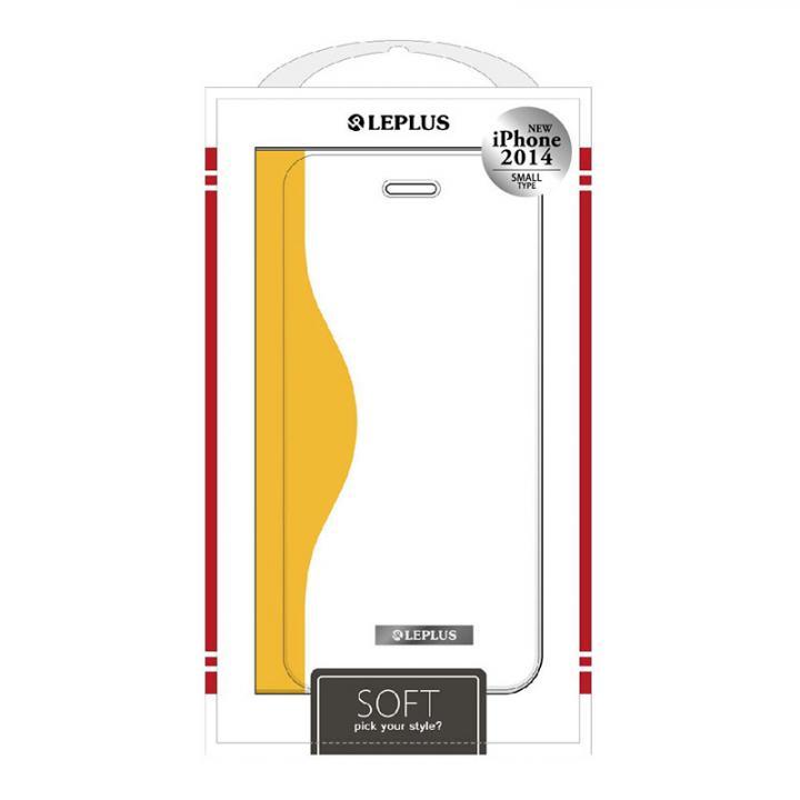 【iPhone6ケース】SOFT デザインPUレザー手帳型ケース イエロー iPhone 6ケース_0