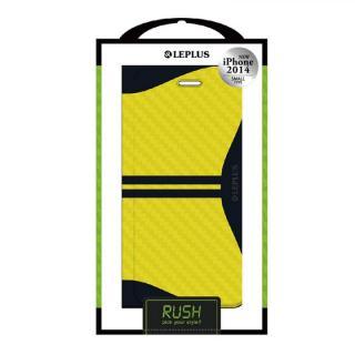 RUSH デザインPUレザー手帳型ケース イエロー iPhone 6ケース