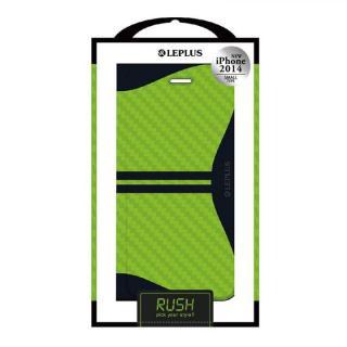 RUSH デザインPUレザー手帳型ケース グリーン iPhone 6ケース