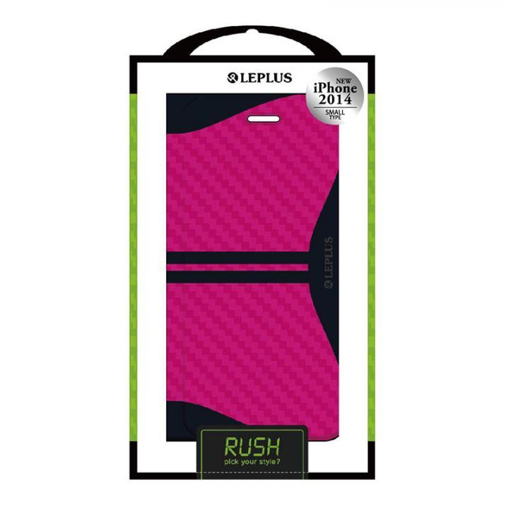 【iPhone6ケース】RUSH デザインPUレザー手帳型ケース ピンク iPhone 6ケース_0
