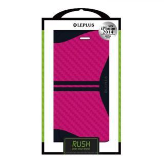 RUSH デザインPUレザー手帳型ケース ピンク iPhone 6ケース