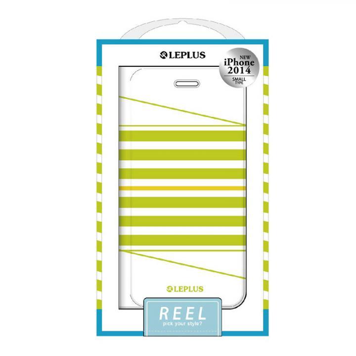 REEL デザインPUレザー手帳型ケース グリーン iPhone 6ケース