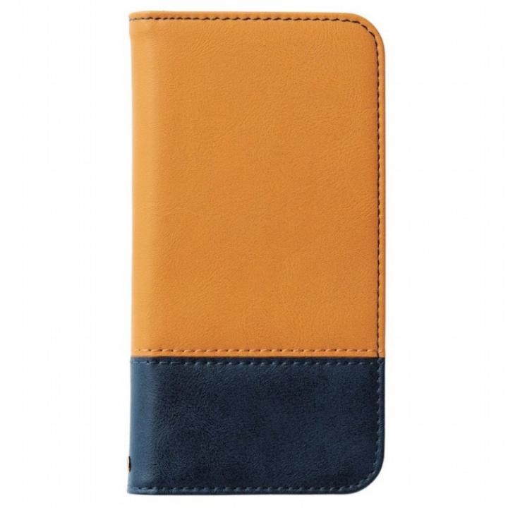 ツートンカラー手帳型ケース オレンジ/ネイビー iPhone 6s