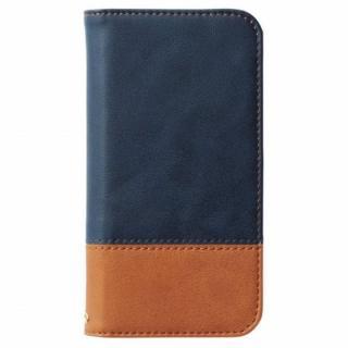 ツートンカラー手帳型ケース ネイビー/オレンジ iPhone 6s