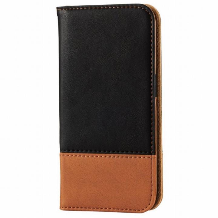 iPhone6s ケース ツートンカラー手帳型ケース ブラック/オレンジ iPhone 6s_0