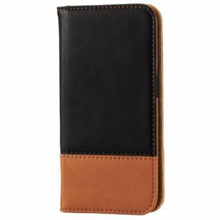 ツートンカラー手帳型ケース ブラック/オレンジ iPhone 6s