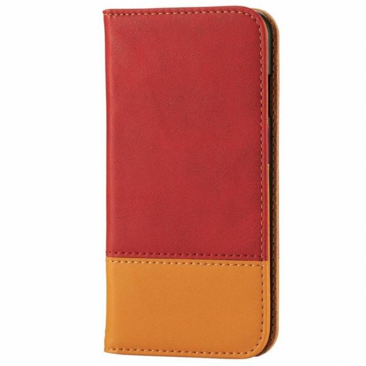 iPhone6s ケース ツートンカラー手帳型ケース レッド/オレンジ iPhone 6s_0