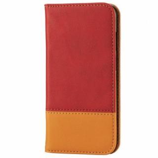 ツートンカラー手帳型ケース レッド/オレンジ iPhone 6s