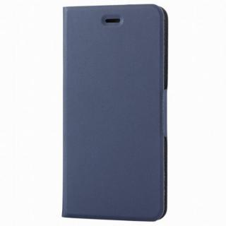 薄型ソフトレザー手帳型ケース ネイビー iPhone 6s Plus