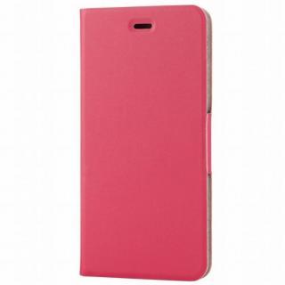 薄型ソフトレザー手帳型ケース ピンク iPhone 6s Plus