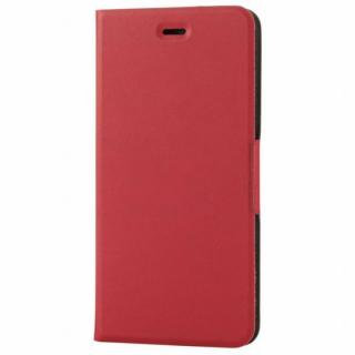 薄型ソフトレザー手帳型ケース レッド iPhone 6s Plus