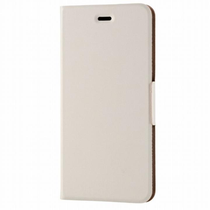 薄型ソフトレザー手帳型ケース ホワイト iPhone 6s Plus