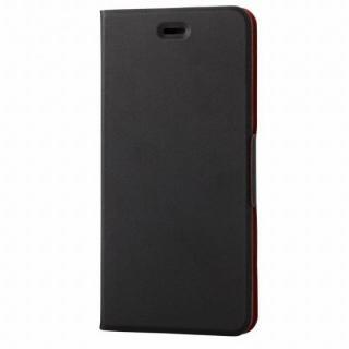 薄型ソフトレザー手帳型ケース ブラック iPhone 6s Plus