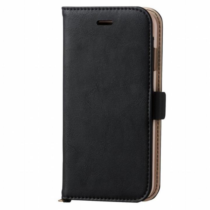 【iPhone6sケース】マグネット ソフトレザー手帳型ケース ブラック iPhone 6s_0