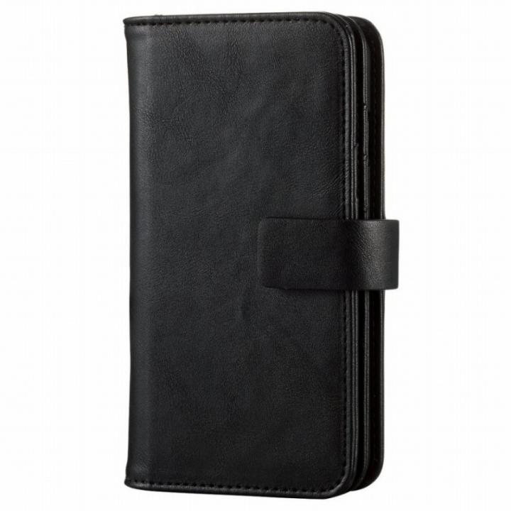 iPhone6s ケース カード収納ソフトレザー手帳型ケース ブラック iPhone 6s_0