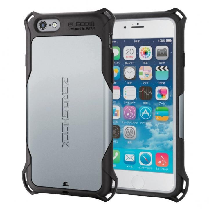 耐衝撃ケース ZEROSHOCK シルバー iPhone 6s