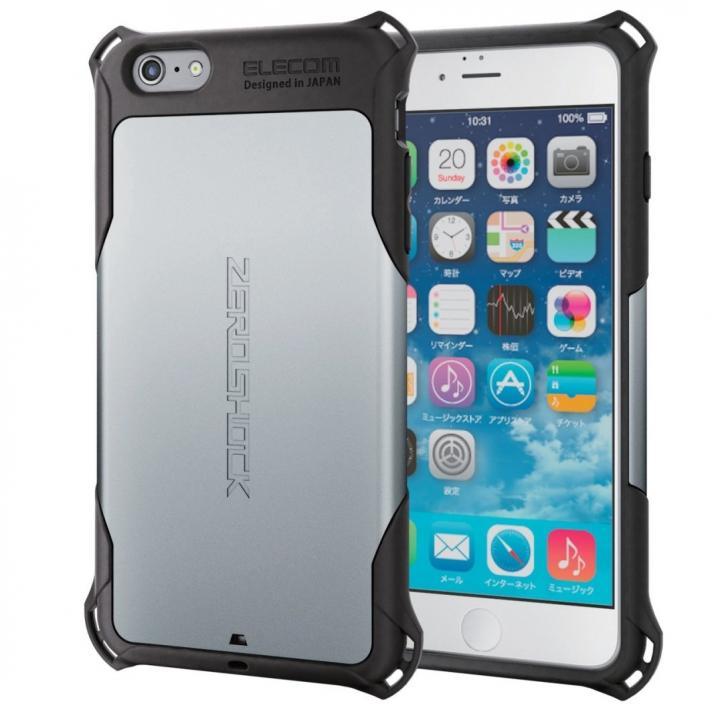 iPhone6s Plus ケース 耐衝撃ケース ZEROSHOCK シルバー iPhone 6s Plus_0