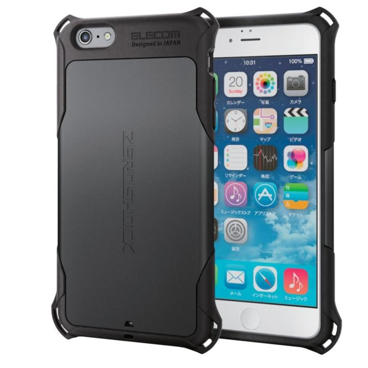 iPhone6s Plus ケース 耐衝撃ケース ZEROSHOCK ブラック iPhone 6s Plus_0