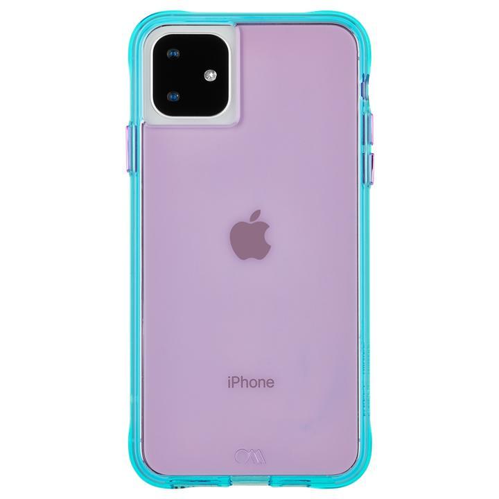 iPhone 11 ケース Case-Mate タフケース Neon Purple/Turquoise iPhone 11_0