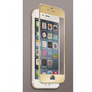 iPhone6s フィルム [0.40mm]マグネシウム合金フレーム 強化ガラスフィルム ゴールド iPhone 6s