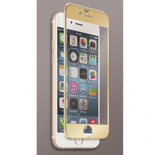 [0.40mm]マグネシウム合金フレーム 強化ガラスフィルム ゴールド iPhone 6s Plus