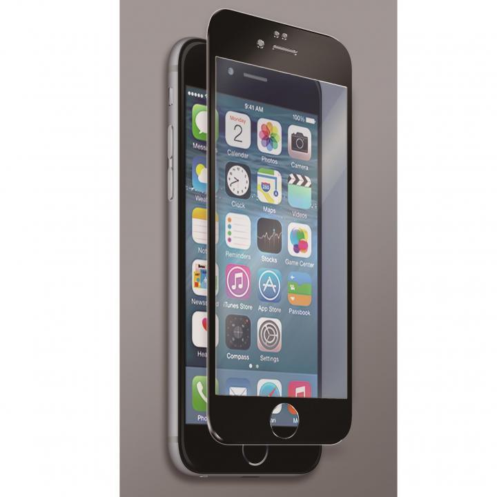 [0.40mm]マグネシウム合金フレーム 強化ガラスフィルム ブラック iPhone 6s Plus