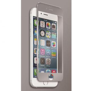 【iPhone6sフィルム】[0.40mm]マグネシウム合金フレーム 強化ガラスフィルム シルバー iPhone 6s