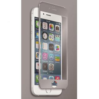 [0.40mm]マグネシウム合金フレーム 強化ガラスフィルム シルバー iPhone 6s Plus