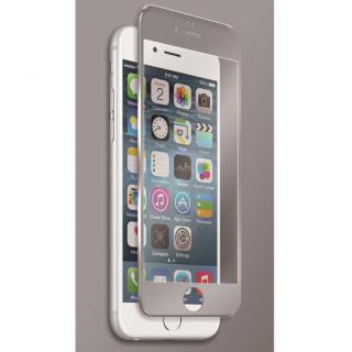 【iPhone6s Plusフィルム】[0.40mm]マグネシウム合金フレーム 強化ガラスフィルム シルバー iPhone 6s Plus