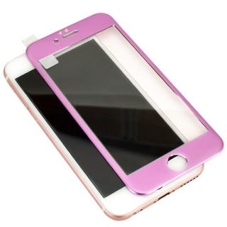 iPhone6s Plus フィルム [0.40mm]マグネシウム合金フレーム 強化ガラスフィルム ピンク iPhone 6s Plus