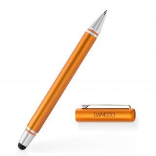 タッチペンとボールペンが一体 Bamboo Stylus duo 3rd generation タッチペン オレンジ