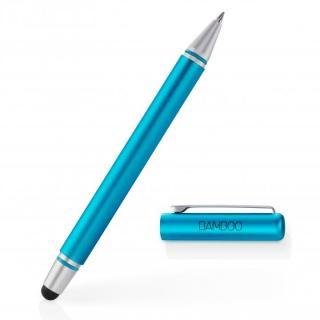 タッチペンとボールペンが一体 Bamboo Stylus duo 3rd generation タッチペン ブルー
