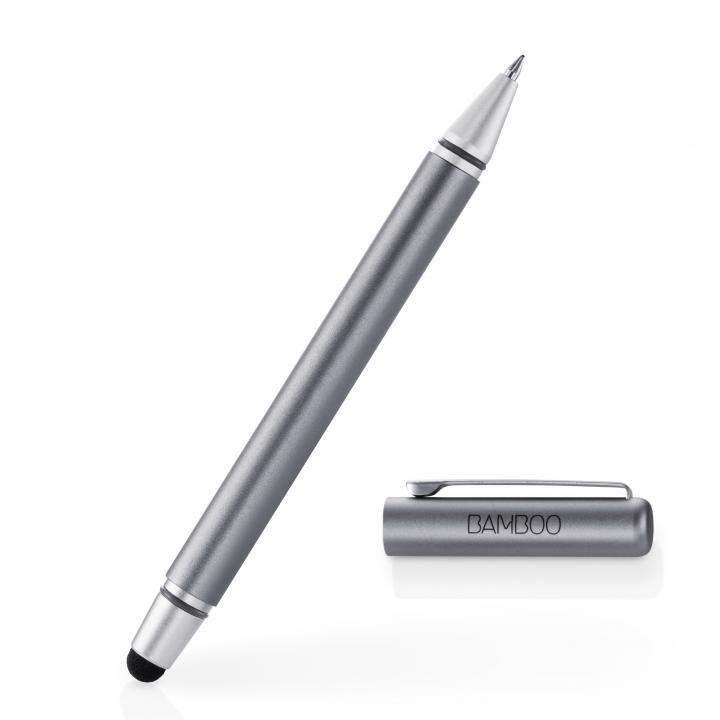 タッチペンとボールペンが一体 Bamboo Stylus duo 3rd generation タッチペン グレー