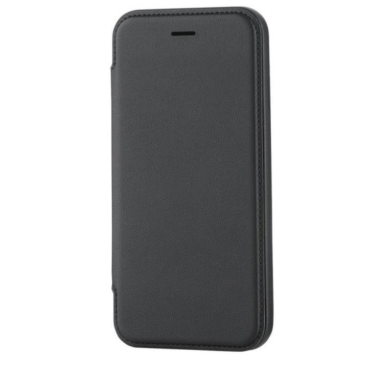 【iPhone6sケース】極薄ソフトレザー手帳型ケース ブラック iPhone 6s_0