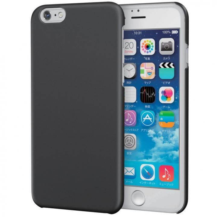 【iPhone6sケース】ラバーグリップコート ハードケース ブラック iPhone 6s_0