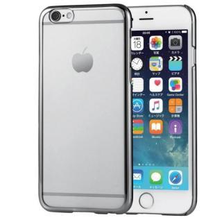 サイドメッキ ハードケース クリア/シルバー iPhone 6s/6