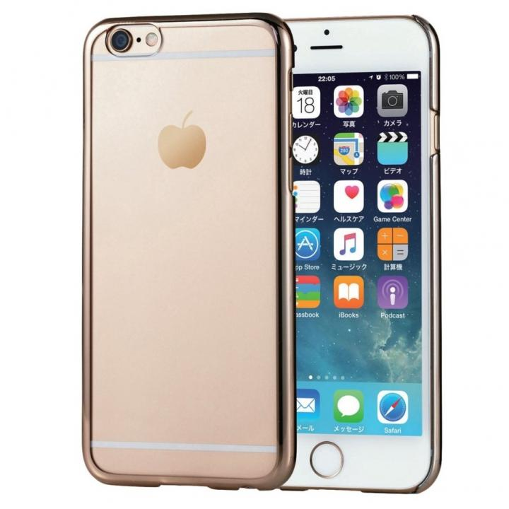 【iPhone6sケース】サイドメッキ ハードケース クリア/ゴールド iPhone 6s/6_0