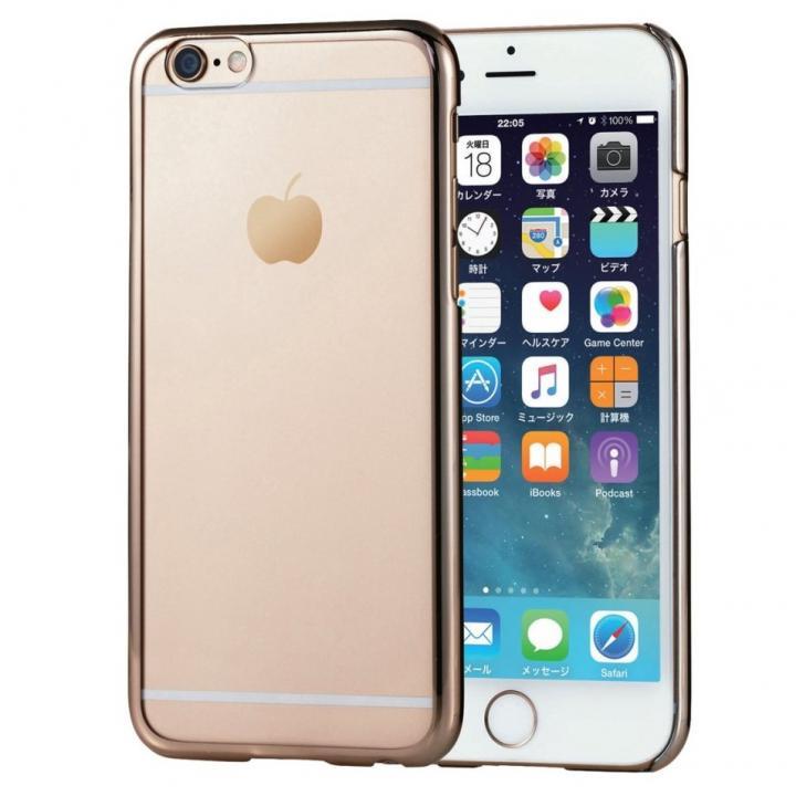 iPhone6s ケース サイドメッキ ハードケース クリア/ゴールド iPhone 6s/6_0