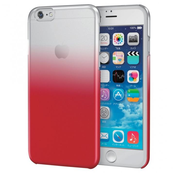 iPhone6s ケース グラデーションクリアハードケース クリア/レッド iPhone 6s_0