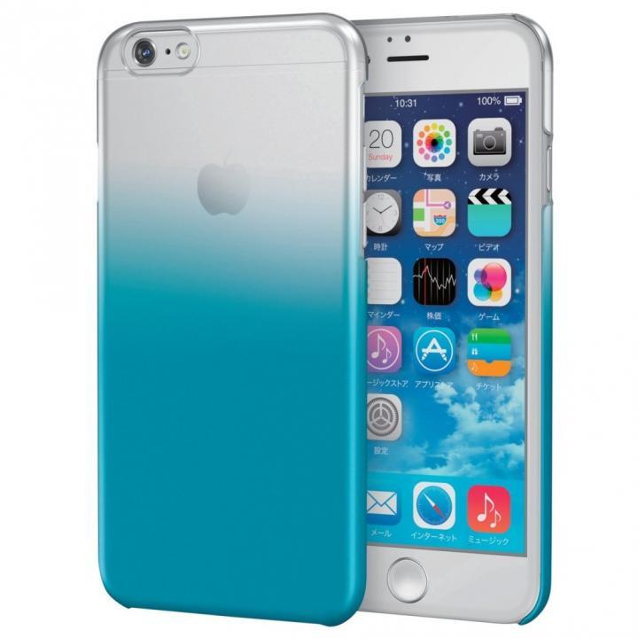 グラデーションクリアハードケース クリア/ブルー iPhone 6s