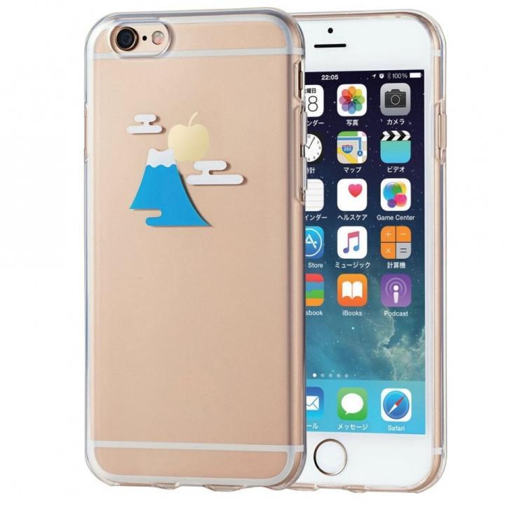 アップルテクスチャ ソフトケース 富士山 iPhone 6s