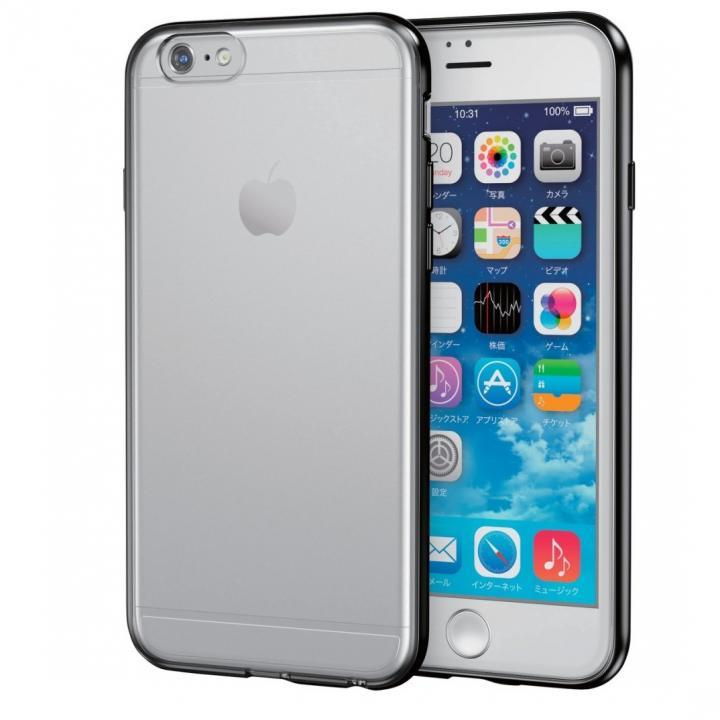 スリムハイブリッドクリアケース ブラック iPhone 6s