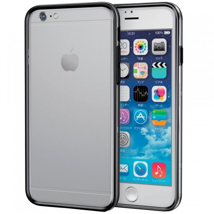ハイブリッドバンパー クリアブラック iPhone 6s