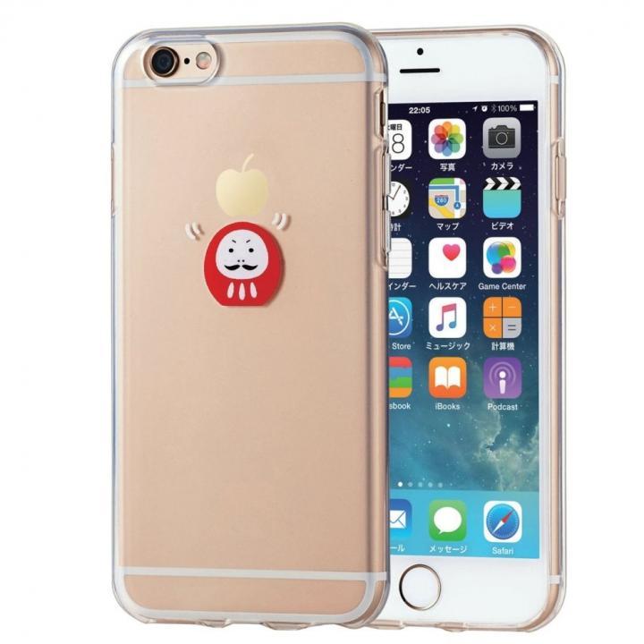 【iPhone6sケース】アップルテクスチャ ソフトケース だるま iPhone 6s_0