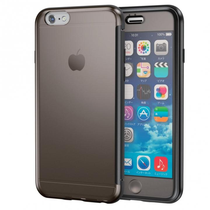 【iPhone6sケース】ハイブリッドケース クリアブラック iPhone 6s_0