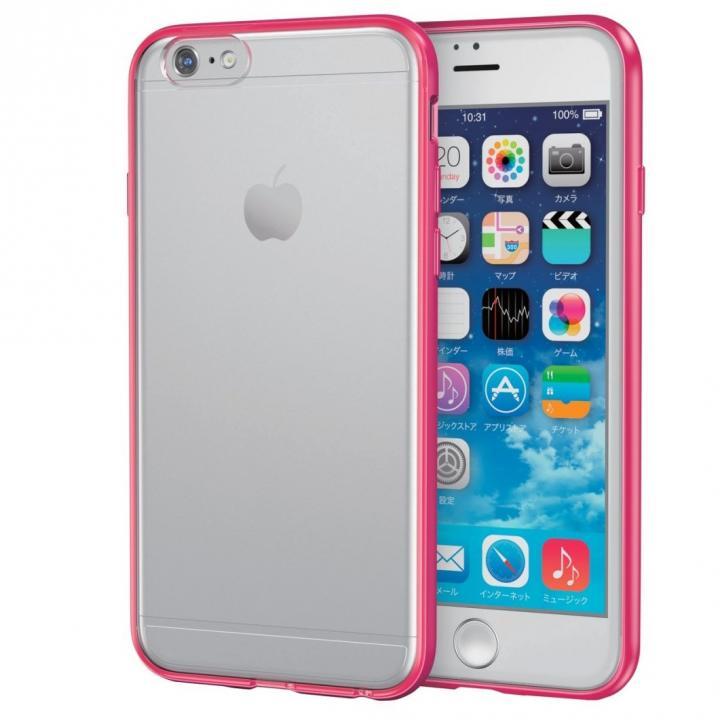 iPhone6s ケース スリムハイブリッドクリアケース レッド iPhone 6s_0