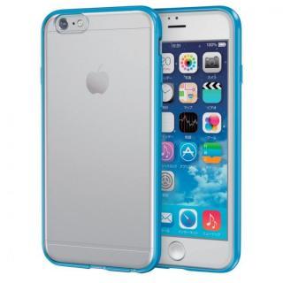 スリムハイブリッドクリアケース ブルー iPhone 6s