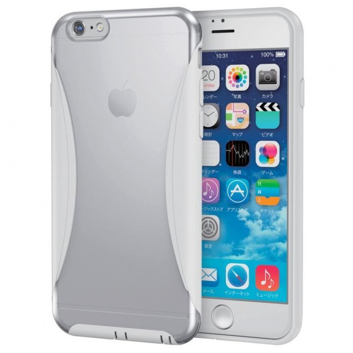 【iPhone6sケース】ハイブリッドバンパー クリア/ホワイト iPhone 6s_0