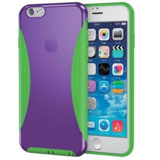 ハイブリッドバンパー パープル/グリーン iPhone 6s
